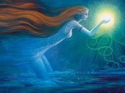 woman offereing light